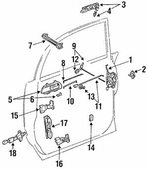 Toyota 68380-95D00 Slide Door Hinge Assembly