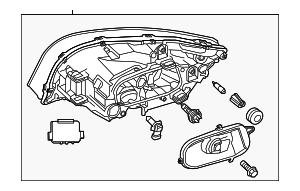 Headlamp Assembly - Volvo (31383072)