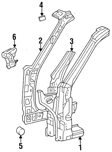 BODY/HINGE PILLAR for 1996 Toyota Tercel #1