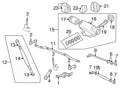 Steering Gear Linkage For 1999 Dodge Ram 2500 Van Mopar Florida Parts