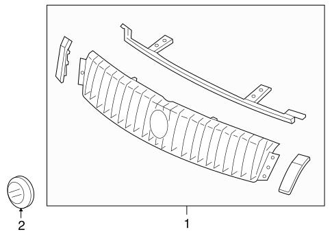 grille components for 2006 mercury montego silver. Black Bedroom Furniture Sets. Home Design Ideas