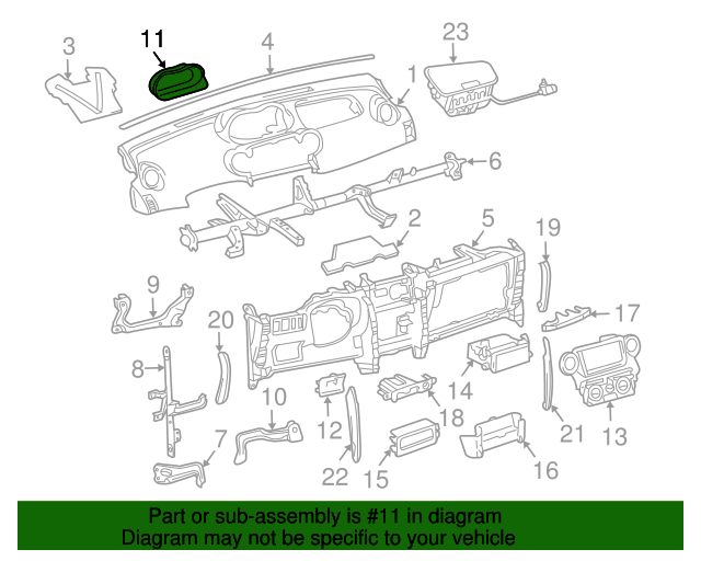 20042006 Scion Xa Cluster Bezel 5541152090b0 Toyotaoftabayparts. Cluster Bezel Toyota 5541152090b0. Scion. Scion Xa Instrument Cluster Diagram At Scoala.co