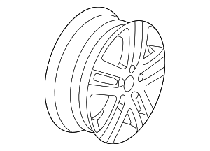 Wheel, Alloy - Volkswagen (1KD-601-025-B-16Z)