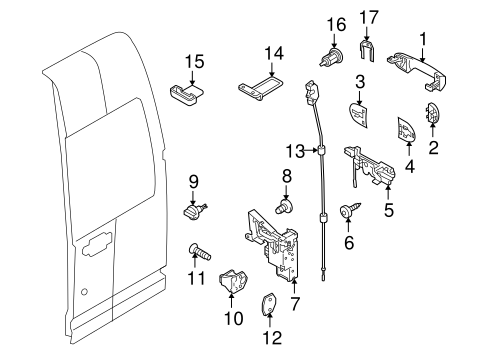 Body/Lock & Hardware for 2013 Ford Transit Connect #2