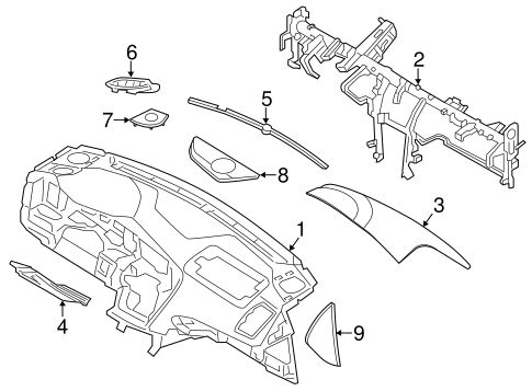 Instrument Panel For 2015 Kia Optima