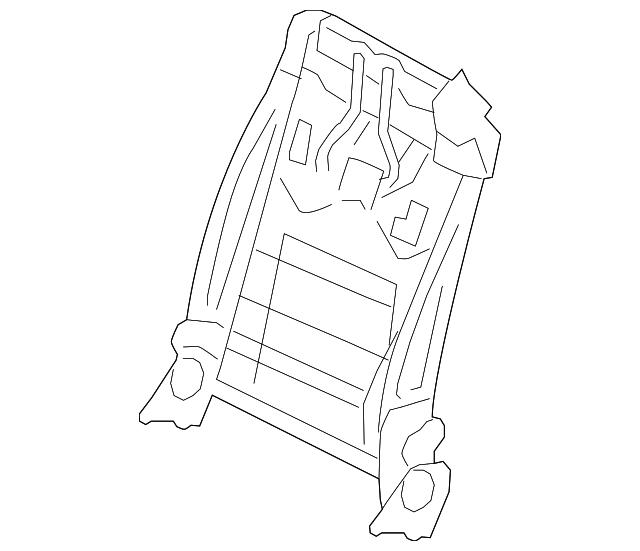 2009 2015 Infiniti Seat Back Frame 87651 Jj81a