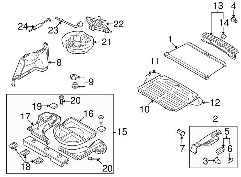 Genuine Hyundai 85795-2L000-9K Luggage Net Hook Assembly