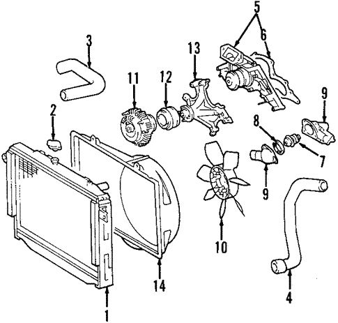 Radiator Components For 2008 Lexus Gx470