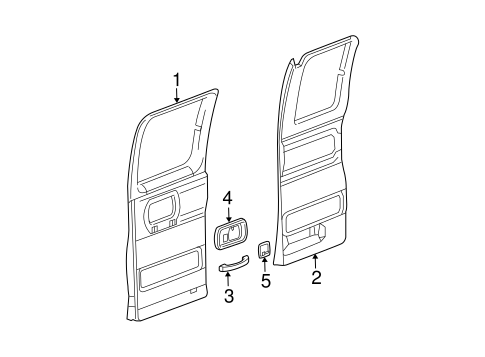 Interior Trim - Side Door for 2018 Chevrolet Express 2500 #0
