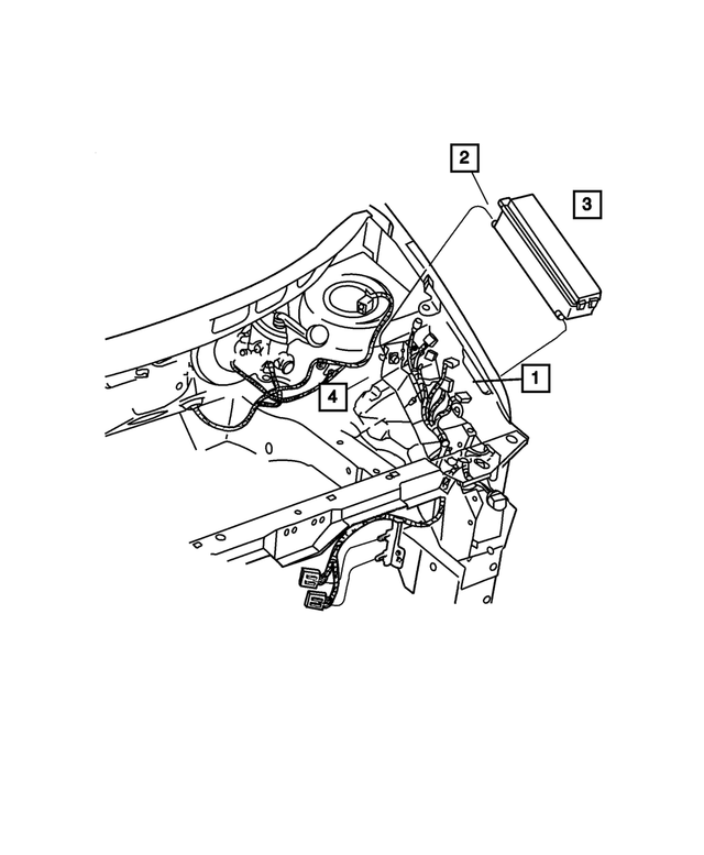 Headlamp Wiring - Mopar (4869541AG)