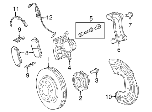 Brake Pads Hardware Kit