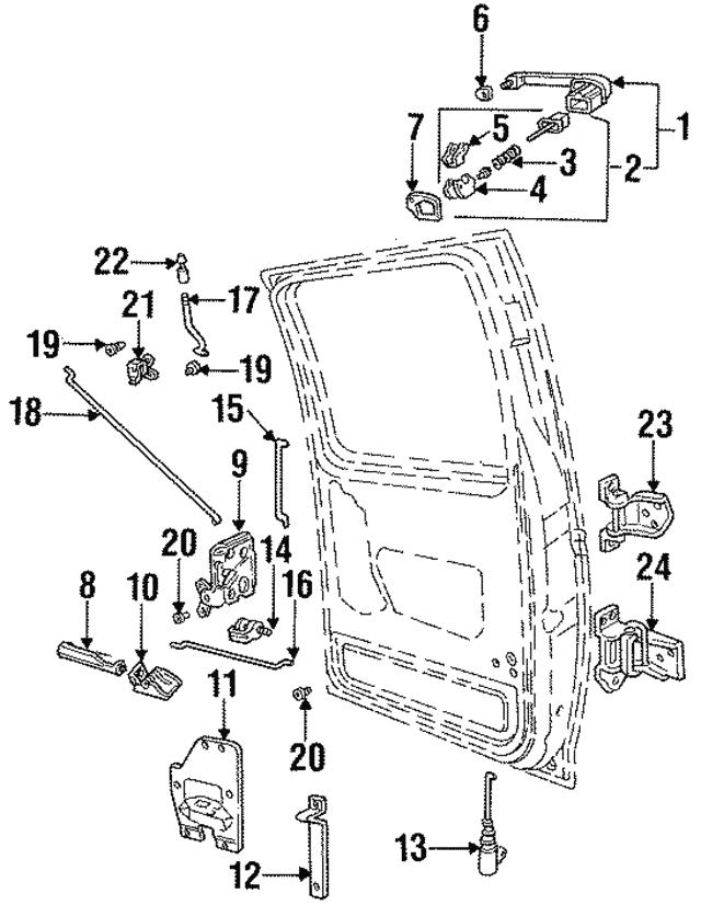 1987 1998 Ford Lock E7tz3526413a