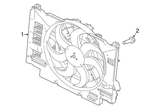 Cooling Fan For 2017 Jaguar Xe