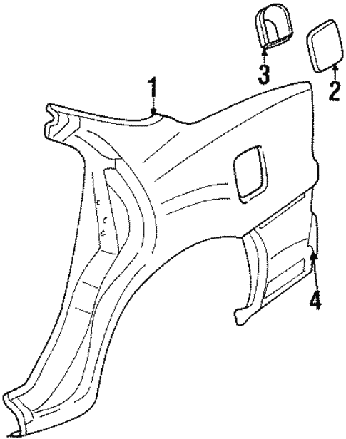 Quarter Panel Components For 1999 Oldsmobile Intrigue