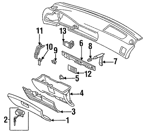 Damper Assembly, Glove Box