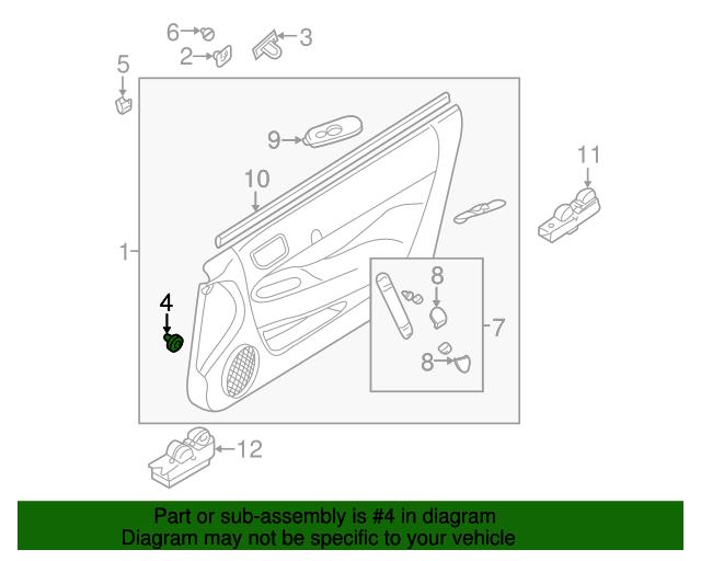 1997 2012 Mitsubishi Door Trim Panel Clip Mu481245 Mitsubishiparts Com