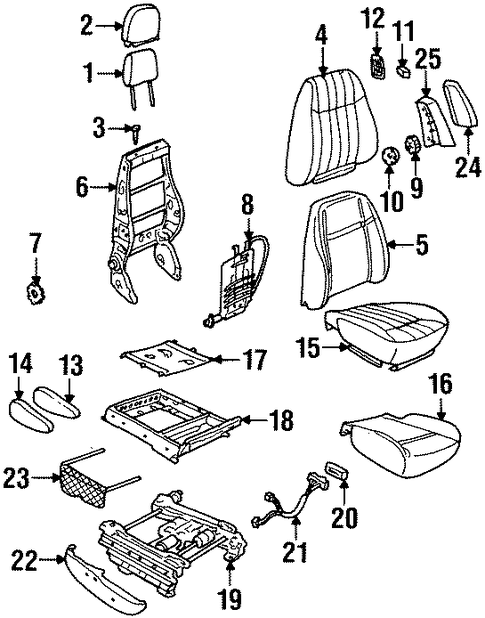 oem power seats for 2000 oldsmobile silhouette