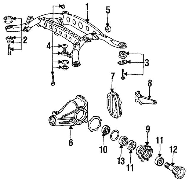1993 1999 Mercedes Benz Rear Sub Frame Mount Kit 129 351 18 42