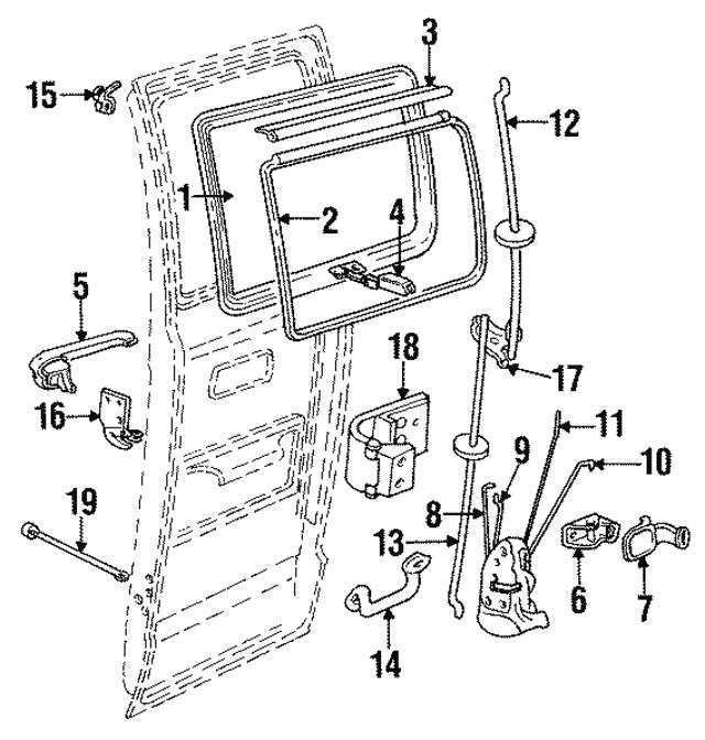 1991 2003 Dodge Lock Rod 55359216aa