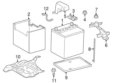 genuine oem battery parts for 2015 scion tc base
