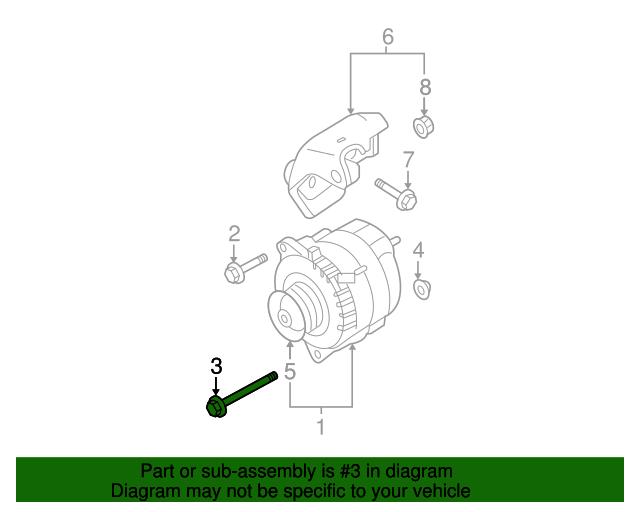 Genuine Nissan Alternator Lower Bolt 11716-JA00A
