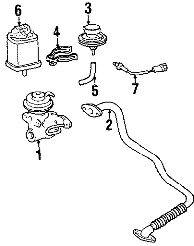 EMISSION SYSTEM/EGR SYSTEM for 1996 Toyota T100 #1