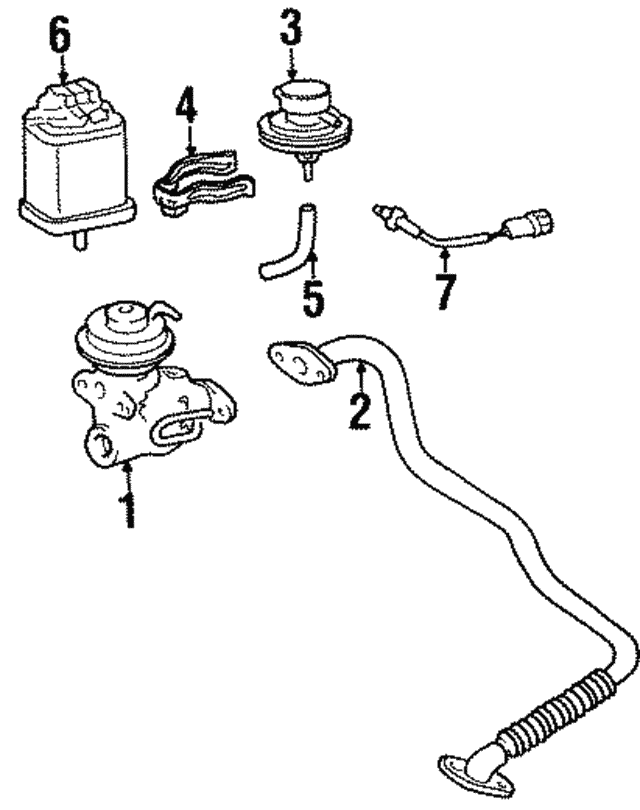 1989 1999 Toyota Vacuum Modulator 25870 65010