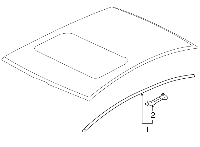 Mitsubishi Drip Molding Clip 7403a143