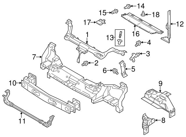 Genuine Ford Upper Tie Bar 9T1Z-6110672-A