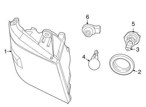Headlamp Components For 2009 Chrysler Town Country