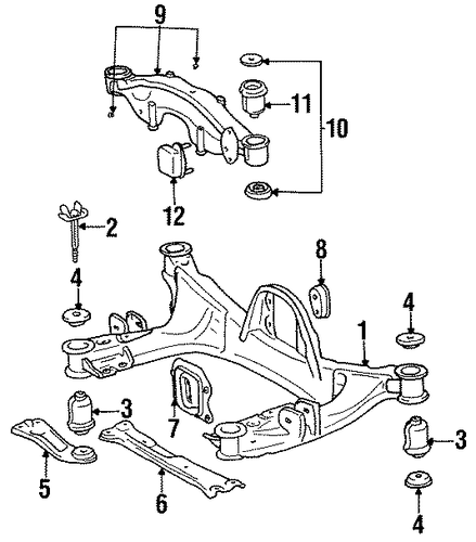 Genuine Oem Rear Suspension Mounting Parts For 1990 Toyota