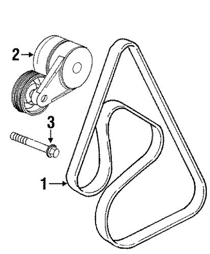 belts  u0026 pulleys parts for 1999 oldsmobile intrigue