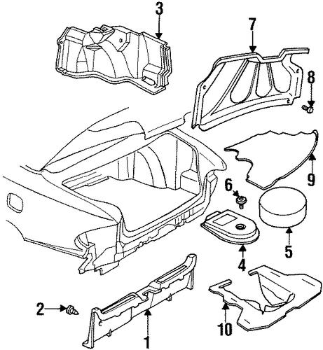 1997 Pontiac Bonneville Transmission: OEM 1997 Pontiac Bonneville Interior Trim