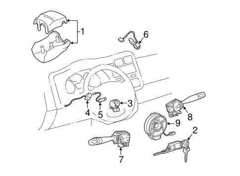 Shroud, Switches & Levers for 2004 Toyota RAV4 #0