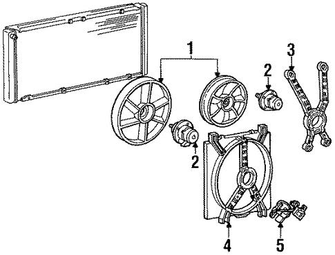 oem 1995 buick lesabre cooling fan parts. Black Bedroom Furniture Sets. Home Design Ideas
