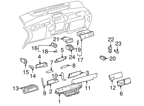 Genuine Oem Switches Parts For 2005 Toyota Prius Base
