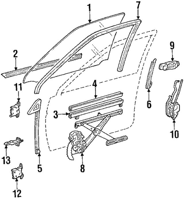 Toyota 69971-12070 Door Glass Channel Filler