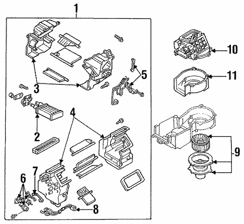 Heater Components for 1993 Ford Probe #0