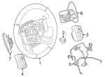 Steering Wheel - Land-Rover (LR035889)