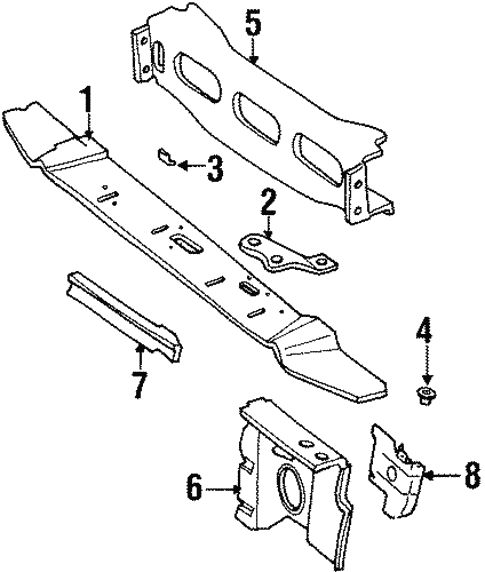 radiator support for 2001 jeep cherokee