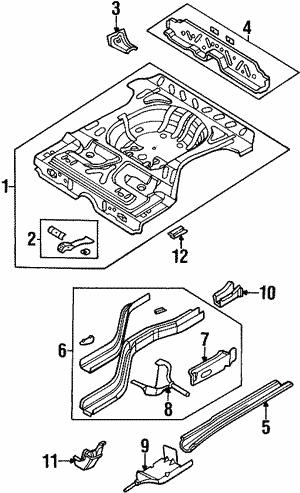 Rear Floor Rails For 1997 Dodge Neon