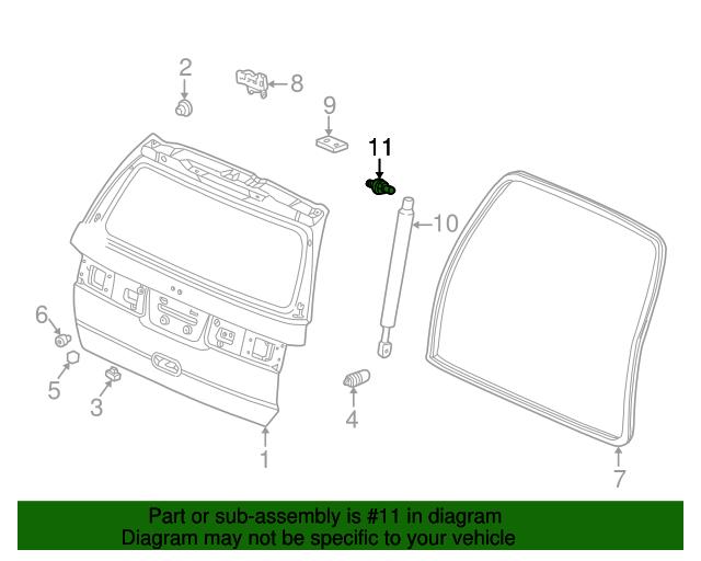 Honda Genuine 74817-S0X-A01 Tailgate Lock Knob Rod