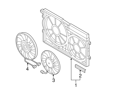Cooling Fan For 2014 Volkswagen Jetta