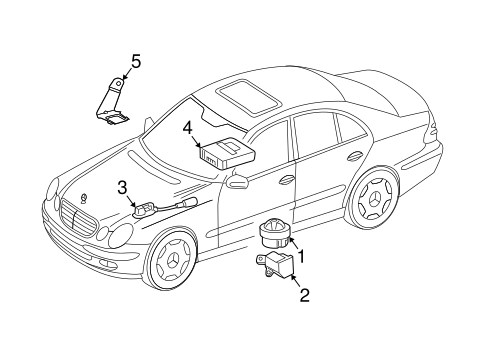 Anti-Theft Components for 2006 Mercedes-Benz E 320 #0
