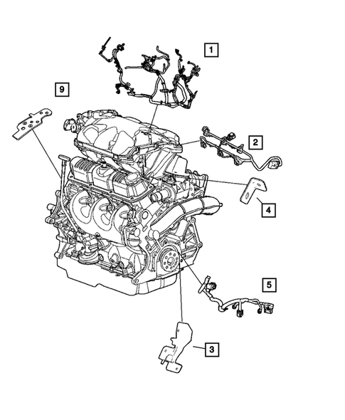 Wiring-Engine & Related Parts for 2005 Chrysler Town & Country |  DodgeParts.comDodge Parts
