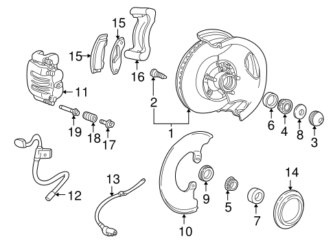Brake Components for 2000 Ford Ranger #1