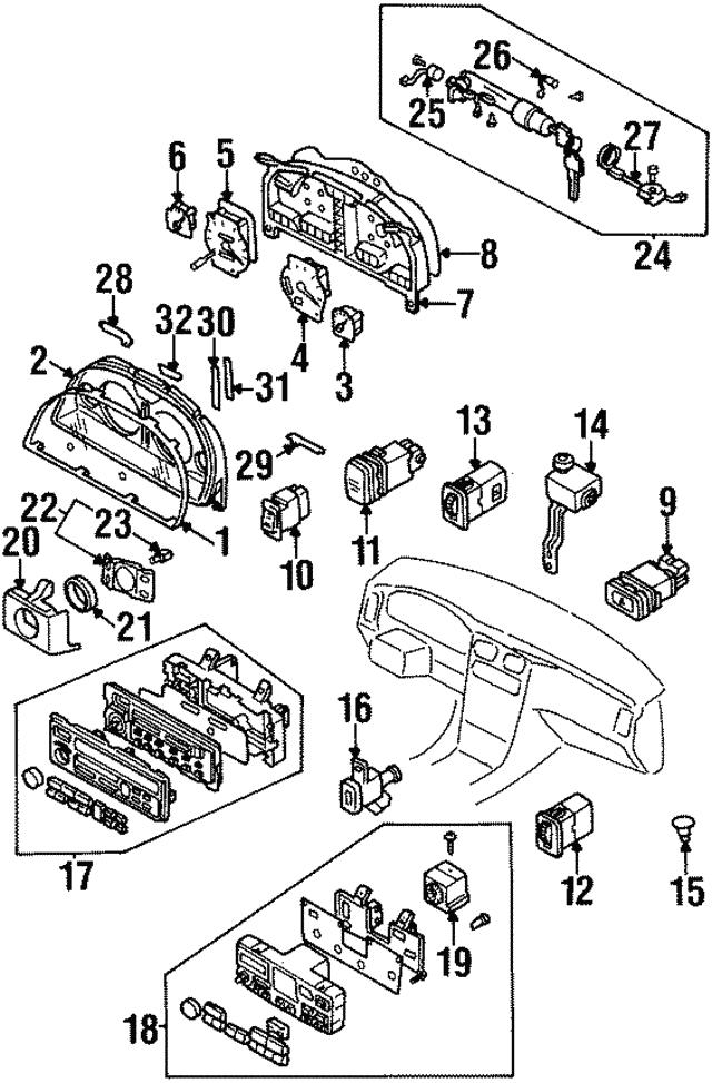 1997 2001 Infiniti Q45 Ignition Lock Cylinder D8700 6p102