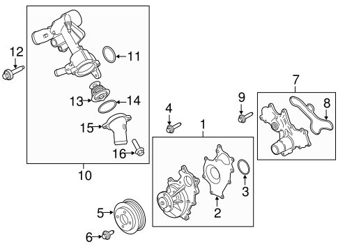 Water Pump For 2017 Ford Transit 350