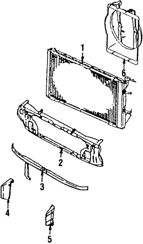 Radiator Components For 1989 Subaru Xt