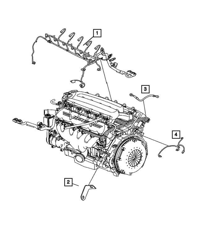 2006 Dodge Viper Engine Wiring 5030399AC   Mopar Wholesale PartsMopar Wholesale Parts